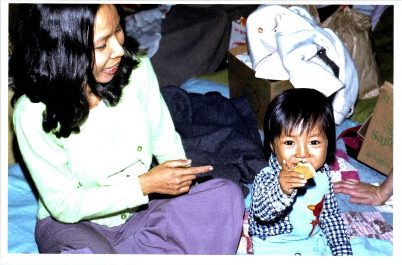 Vietnamese woman with child<br />