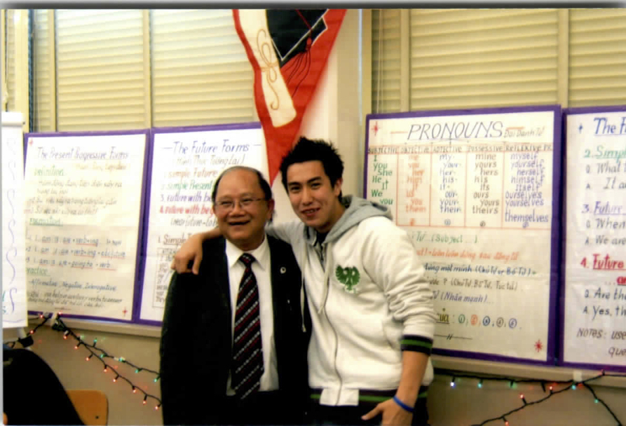 William Vuong with student