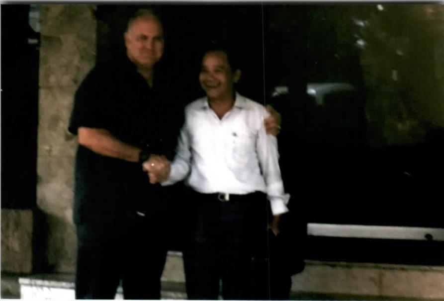 """Saigon, April 7, 1993, at Rex Hotel with Five Star General Norman Schwarzkopf"""