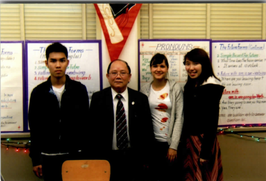 William Vuong with students