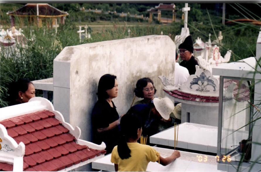 Photo of family at shrine