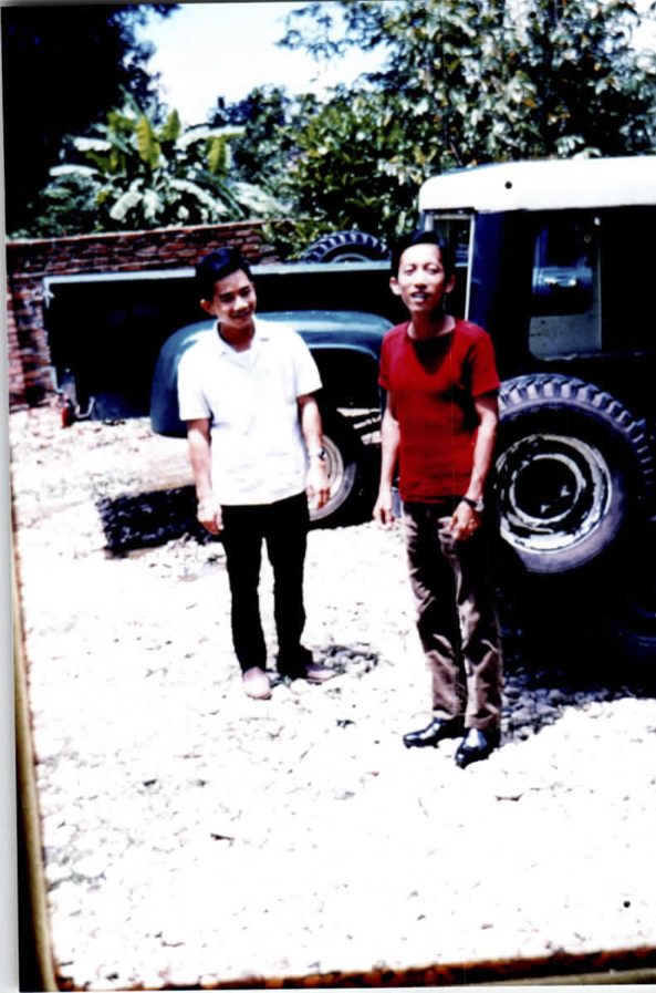 William Vuong and friend in Kontum Province