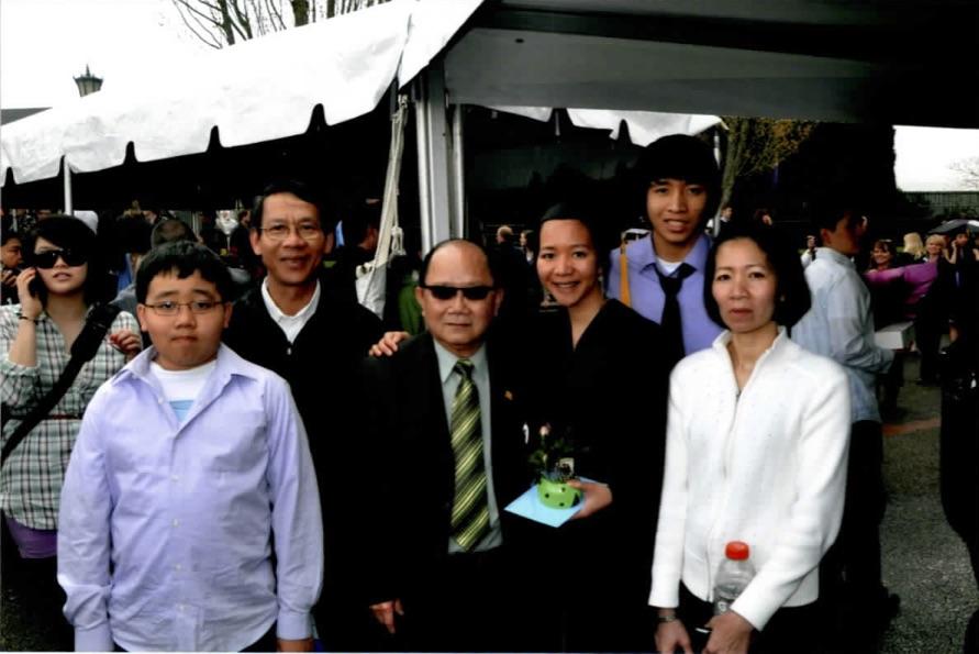 William Vuong at grandchild's graduation