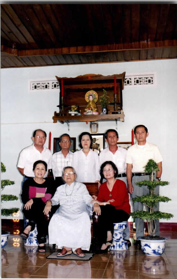 Photo of family at alter