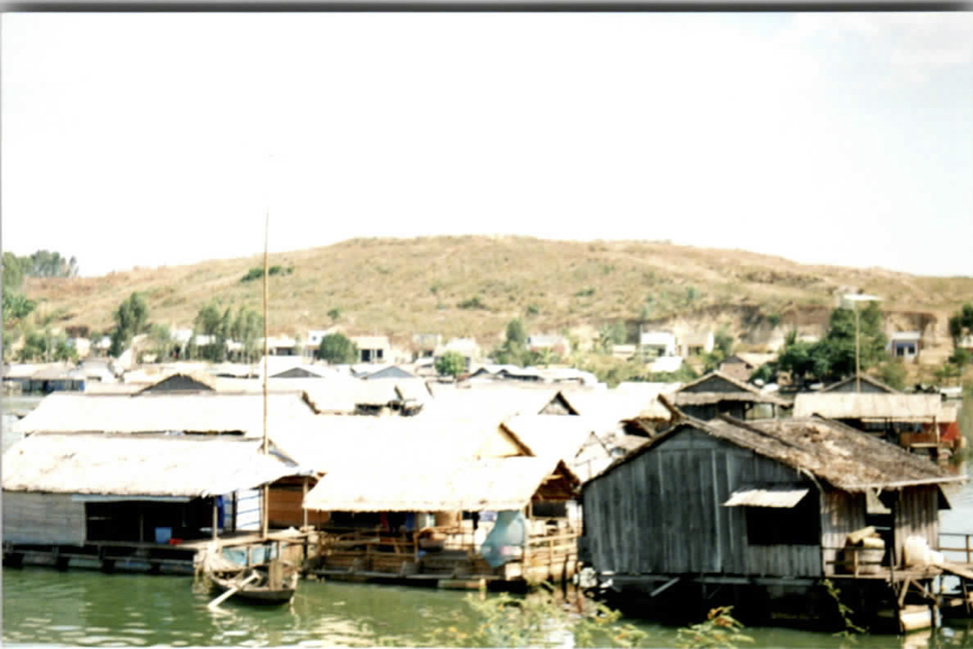 Photo of village on the water