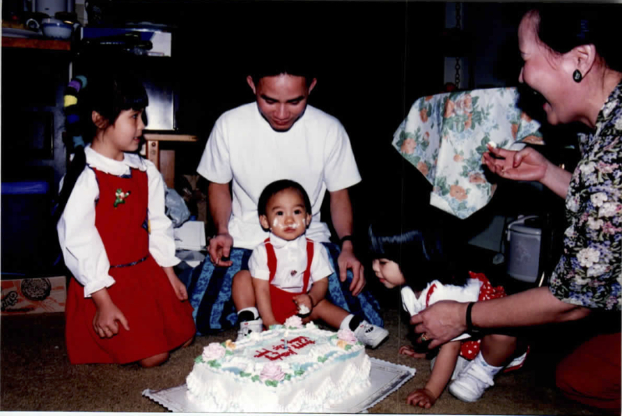 Children with Birthday Cake